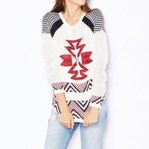 Only   Vilde Knitted Sweater Aztec